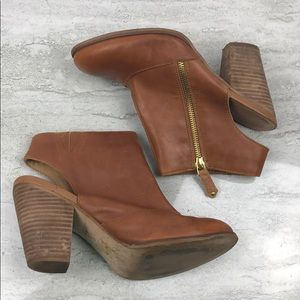 Aldo Brown Leather Booties Size 8.5